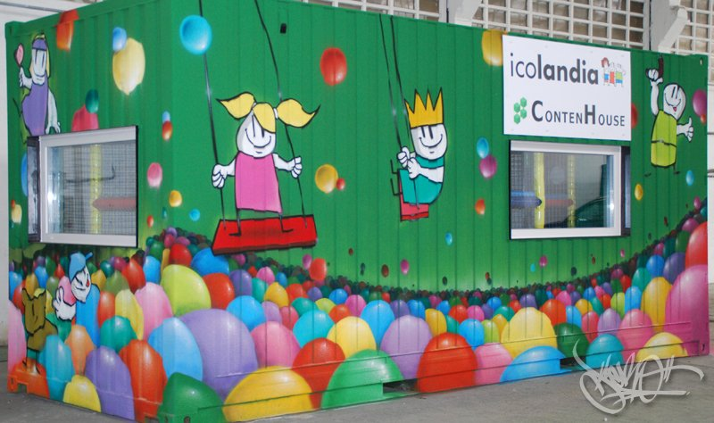 container-playroom in Lemoa, Bilbao (2012)