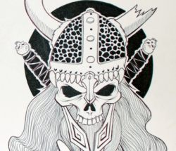 Viking skull sketch 2009